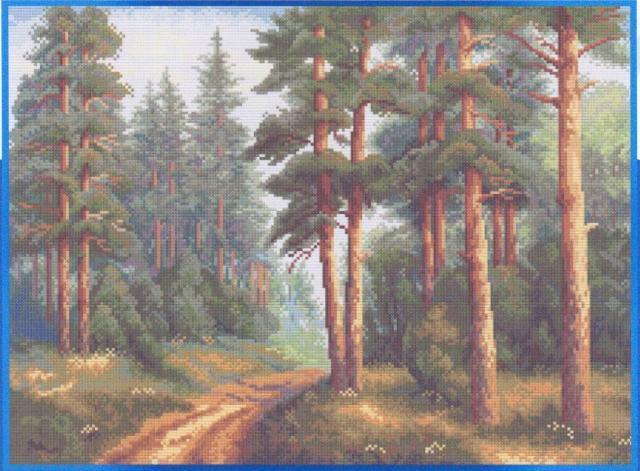 Схема вышивания крестом - Сосновый бор