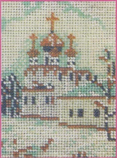Схема вышивания бисером - Старая Москва