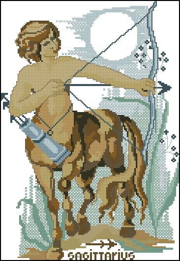 Схема вышивания крестом - Знаки зодиака Стрелец