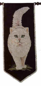 Схема вышивания крестом - Белый кот
