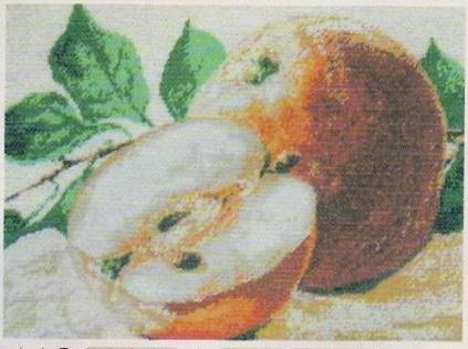 Схема вышивания бисером - Яблоки