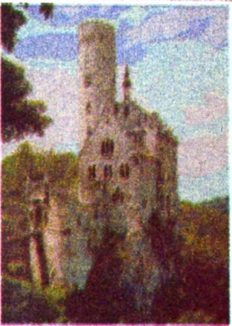 Схема вышивания бисером - Замок