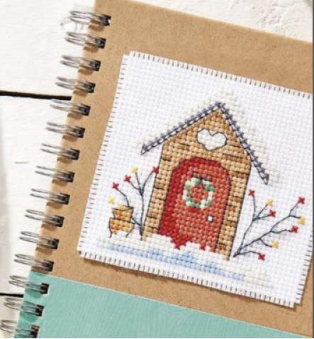 Схема вышивания крестом - Зимний домик