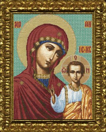 Схема вышивания крестом - Казанская икона Божьей Матери