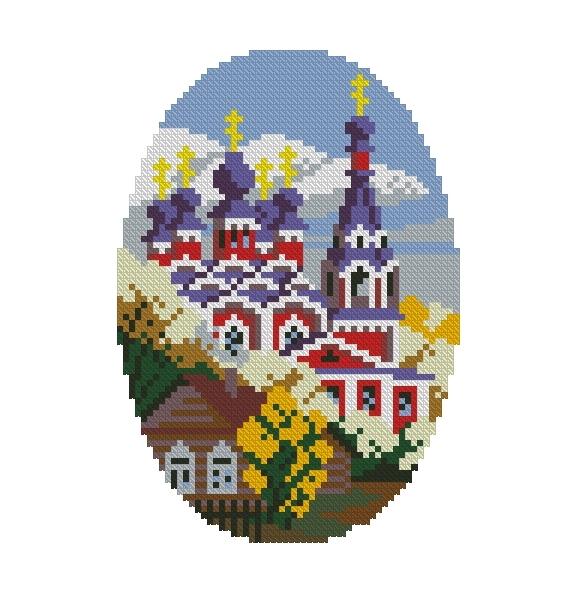 Схема вышивания крестом - Покров Пресвятой Богородицы
