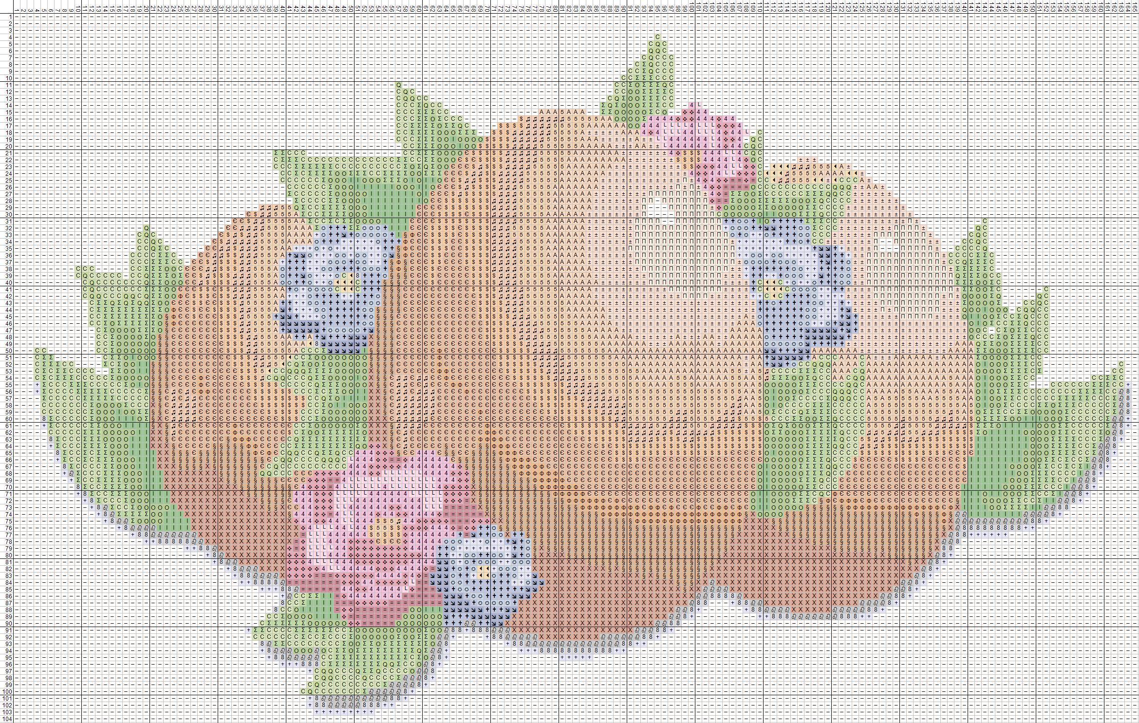 схема вышивания крестиком полотенца на пасху