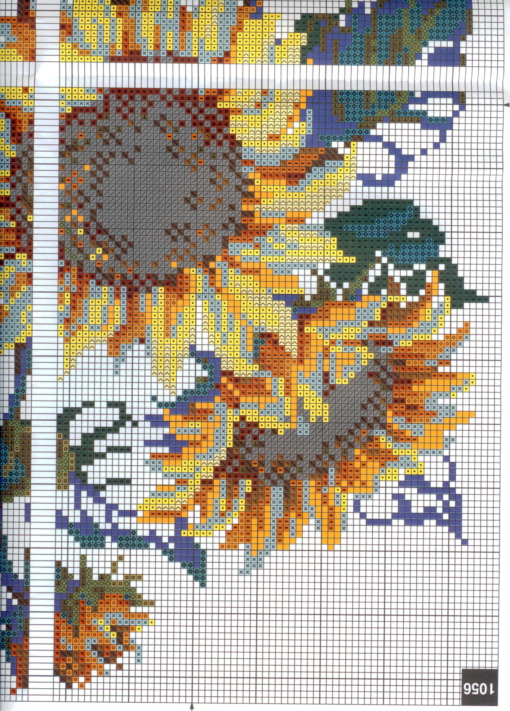 Схема вышивки на прогулку риолис