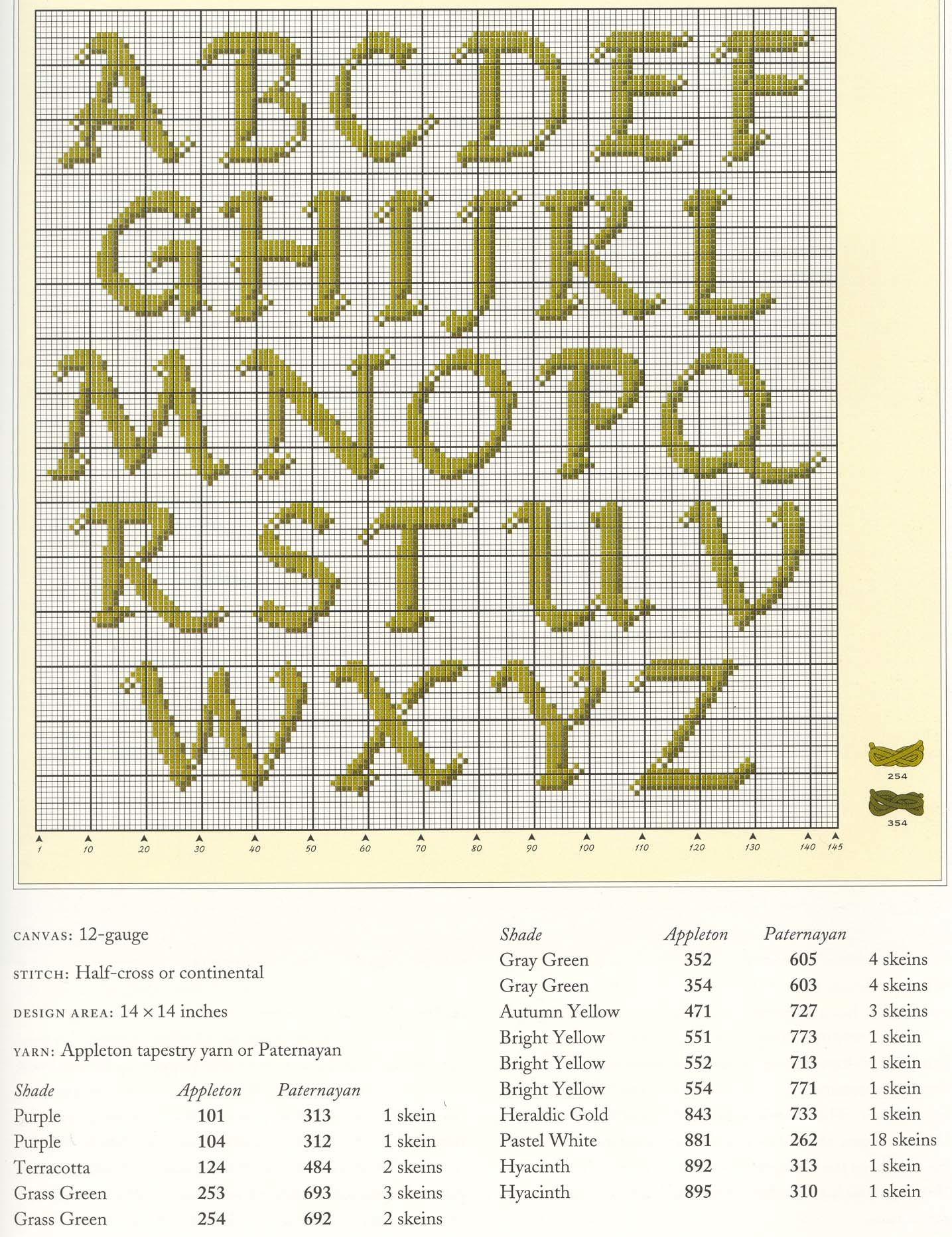 Шрифт для вязания на спицах