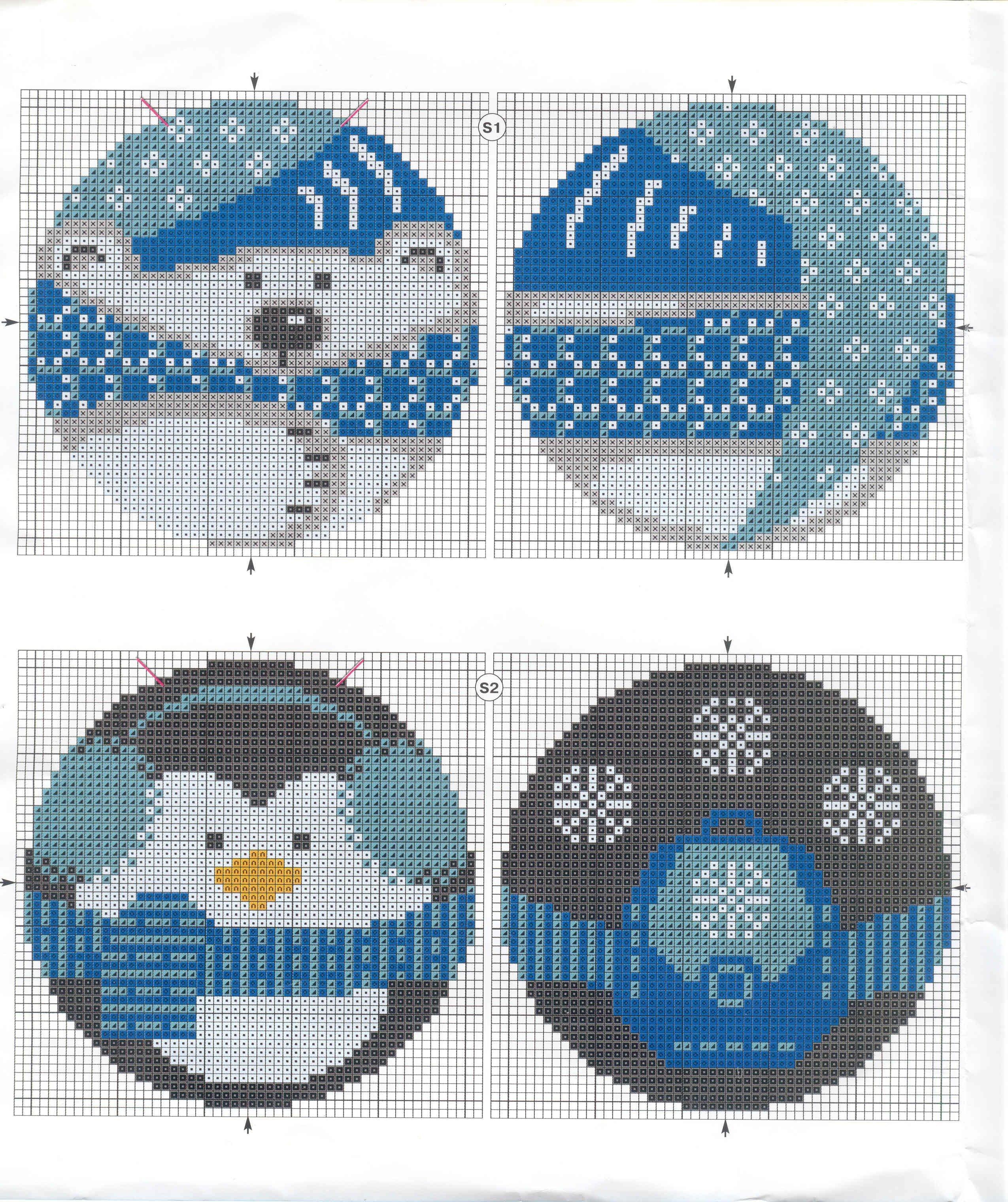 расшифровка схем вышивки крестом фирмы риолис