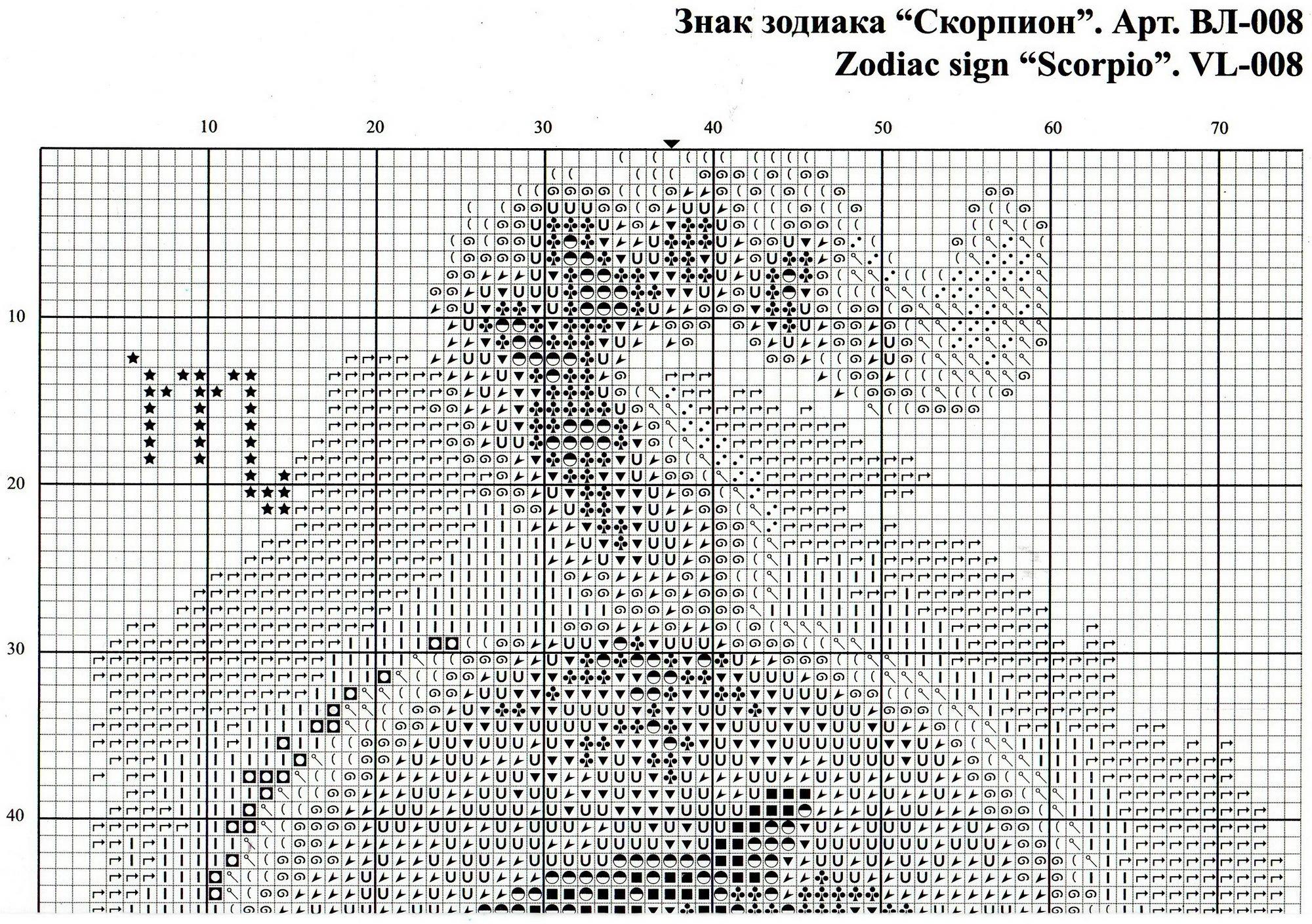 Вышивка знака зодиака скорпион схема