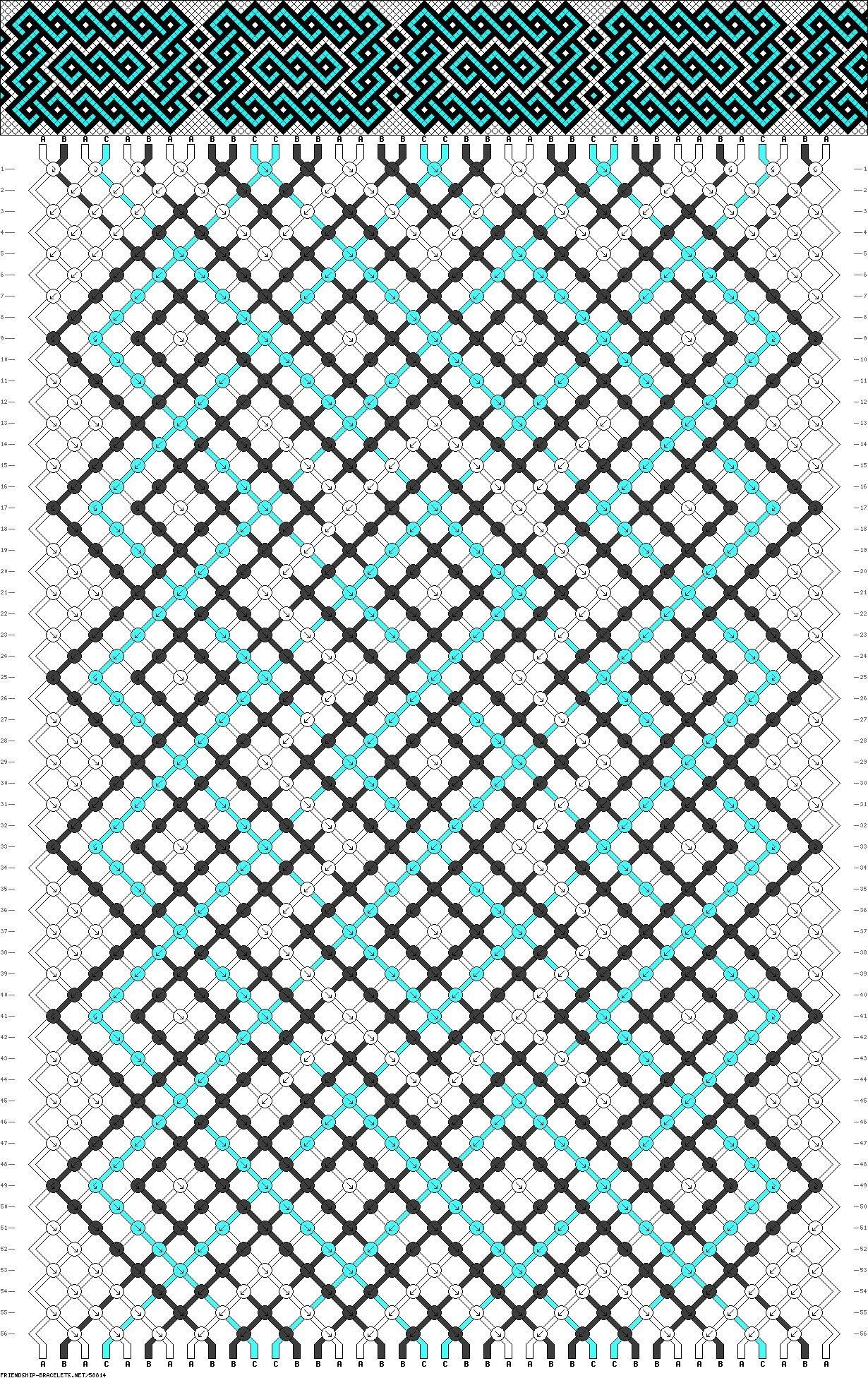 Схема плетения фенечек из мулине с именем юля8