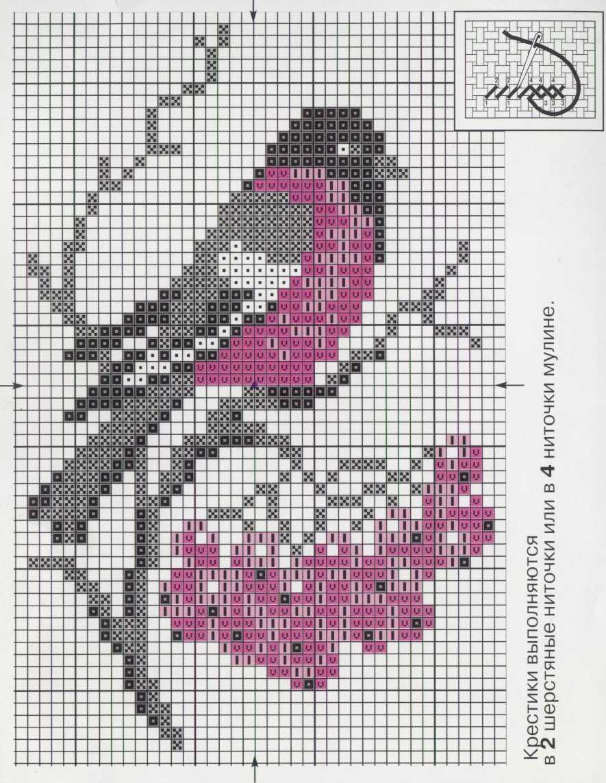 Птичка моя (филейное вязание продолжение) 92