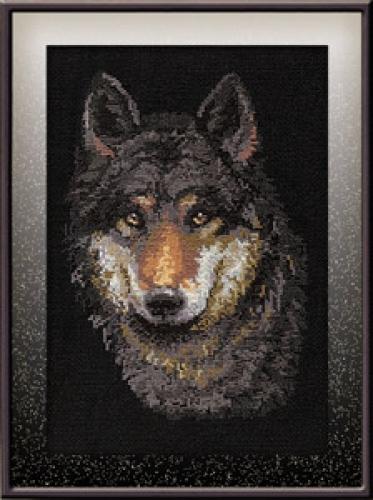 Схема вышивания крестом - Волк