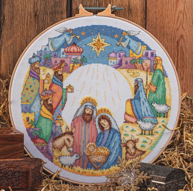 Схема вышивания крестом - Рождество