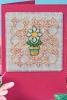 """Схема вышивания крестом - Открытка """"Весенний цветок"""""""