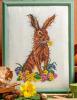 Схема вышивания крестом - Пасхальный кролик