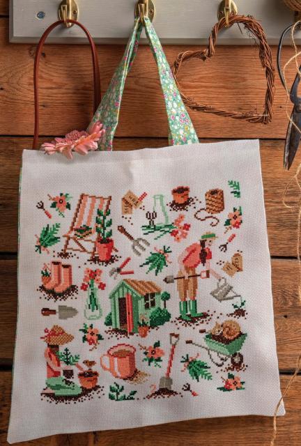 Схема вышивания крестом - сумка