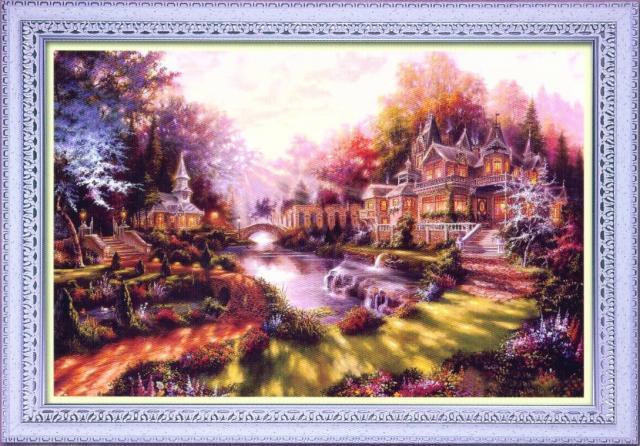 Схема вышивания крестом - Волшебный замок