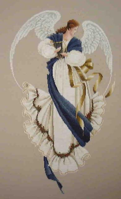Схема вышивания крестом - Ангел надежды