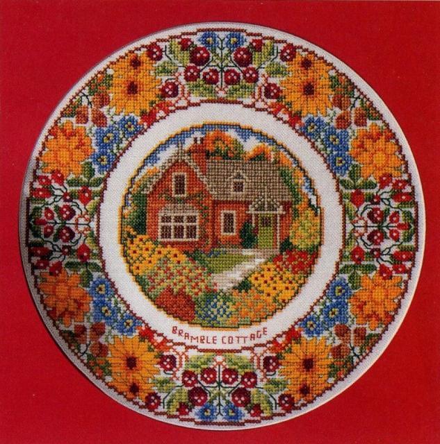 Схема вышивания крестом - Загородный домик