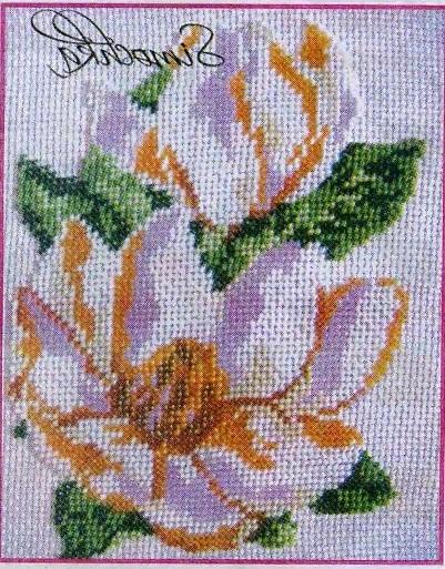 Схема вышивания бисером - Нежный лотос
