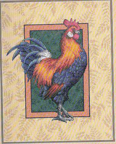 Схема вышивания крестом - Петух